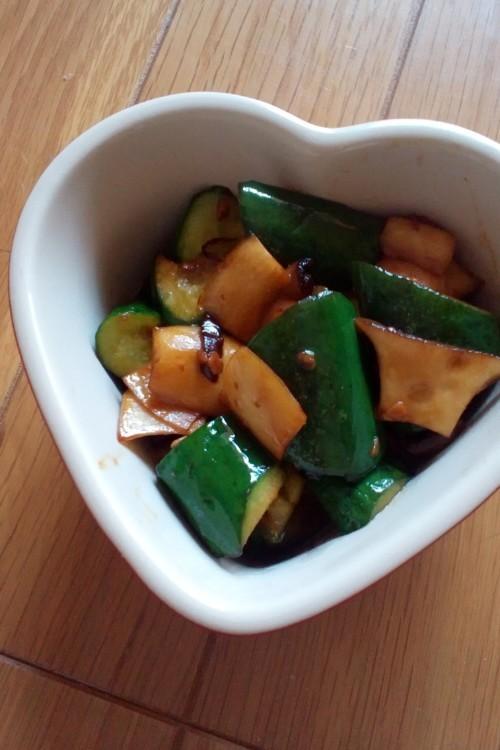 ●常備菜●きゅうりとエリンギの醤油炒め