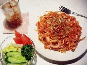 ●イカ墨入り♪トマトスパゲッティ★
