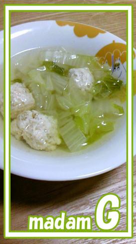 ●あっさり美味☆白菜と鶏団子の塩スープ●