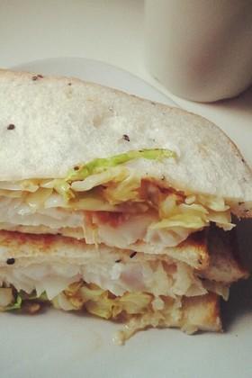 すぐできる白身魚サンドイッチ