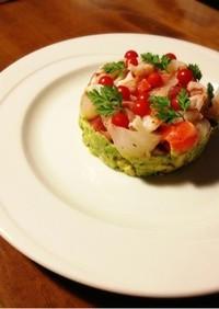 とっておきの一皿!海の幸とアボカドサラダ