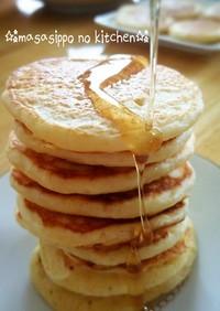 朝食&ブランチ♡ふわふわ豆腐ホットケーキ