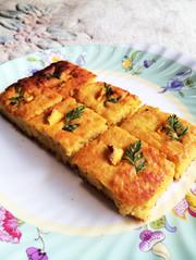 大豆粉のキャロットケーキの写真