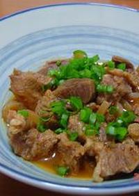 牛肉とこんにゃくの味噌煮こみ