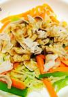 簡単!生姜焼味野菜たっぷり豚しゃぶサラダ
