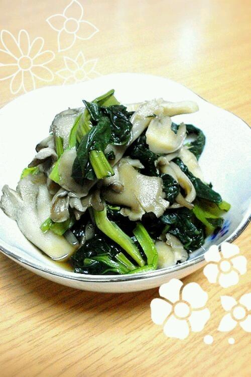 シンプル!!小松菜と舞茸の煮浸し♪