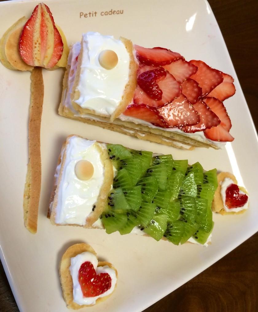 こどもの日は鯉のぼりケーキ〜離乳食完了期〜