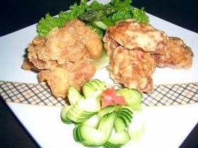 鶏唐のスィートチリマヨ和え
