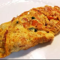 アジアで食べた朝ごはん!野菜のオムレツ