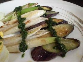 (∵)おっさん屋:焼き野菜のバジルソース