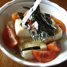 トマトと豆腐の中華風サラダ