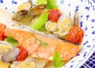 ダイエットや美肌に鮭でアクアパッツァ