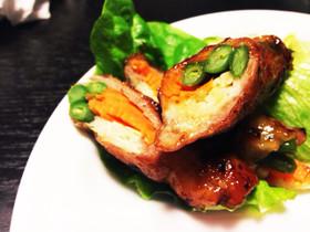 簡単 三色野菜の肉巻き