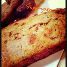 バナナ3本ヘルシーパウンドケーキ‼