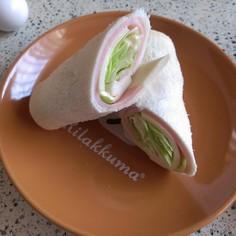 ふんわり食パン de ラップサンド♪
