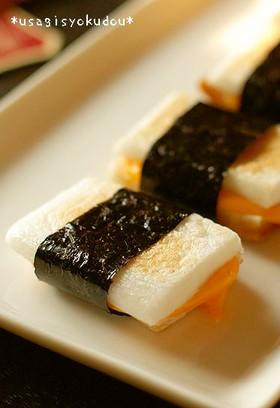 ハムチーズはんぺんの磯辺焼き*お弁当に♪