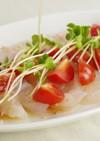 鯛とトマトのカルパッチョ