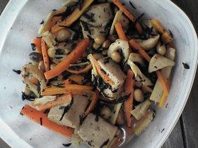 ひじきと凍り豆腐の炒り煮