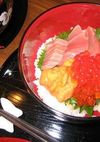 即席酢飯で海鮮丼