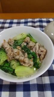 簡単☆豚肉と青梗菜のナンプラー炒め♪の写真