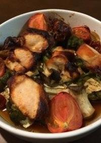 ちょいピリ♩柚子胡椒鶏と春野菜のグリル