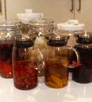 我が家の果実酒達の写真