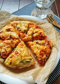 ランチに簡単☆炊飯器でふんわりピザパン。