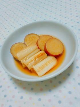 〖薩摩芋と焼きネギのこっくり煮物♡〗