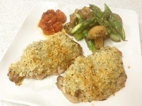 ☼鶏もも肉のマスタードチーズパン粉焼き