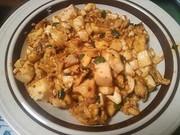 調味料不要♪にらと卵の麻婆豆腐の写真
