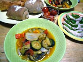 簡単!野菜の甘さで食べる ラタトゥイユ
