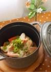 ストウブで*粕漬け赤魚の野菜蒸し