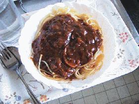 ハヤシスパゲッティ