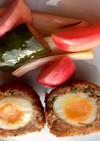 ソーセージで作るうずら卵のスコッチエッグ
