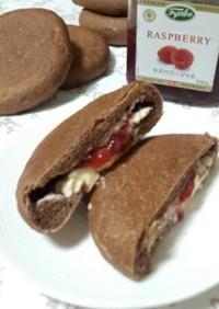 ラズベリーチーズの平焼きパン