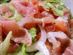 持ち寄りにも☆生ハムと野菜のマリネサラダ