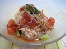 フレッシュ☆トマトのひんやり麺