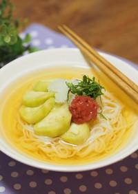 ✿梅干しと蒸し茄子のさっぱり冷麺✿