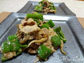 豚肉と舞茸とピーマンの味噌炒め