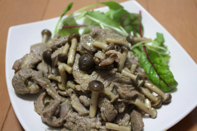 NZ産ラム肉のバジルソテー