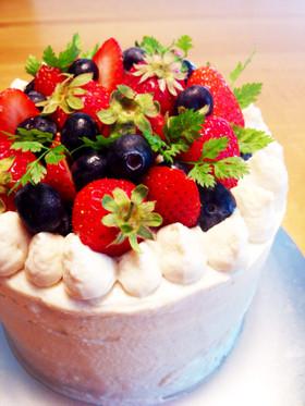 イチゴのショートケーキ • マクロビ