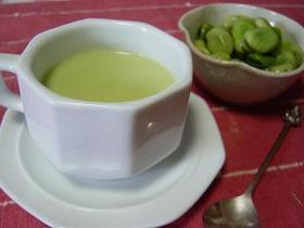 空豆スープ