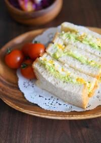 塩麹漬け卵のサンドイッチ