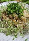 栄養満点!抗酸化対策!玄米納豆チャーハン
