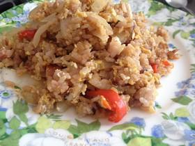 ナシゴレン風焼肉のタレ風炒飯