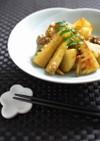 筍と長芋・舞茸のオイスターソース炒め