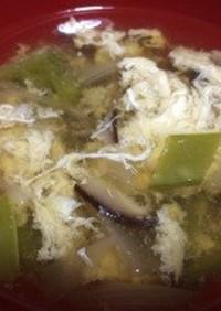 絹さや春雨スープ