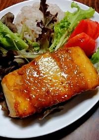 豆腐ミンチサンドステーキ☆照り焼き風