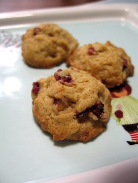 * クランベリー・シナモンクッキー *