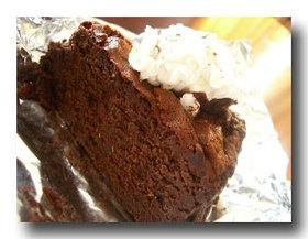 パスタの後に、チョコレートケーキ